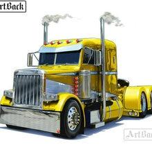 Полная квадратная дрель 5d diy Алмазная картина желтый большой грузовик Алмазная мозаика Стразы 3d Алмазная вышивка украшение дома подарок