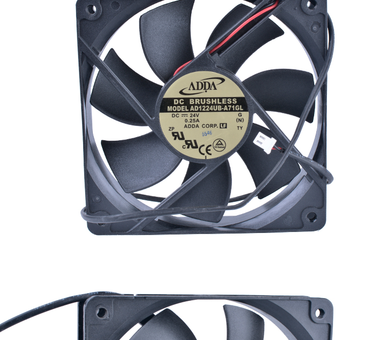COOLING REVOLUTION AD1224UB-A71GL 12cm 120mm fan12025 120x120x25mm 24V 0.25A Double ball bearing inverter IPC server cooling fan