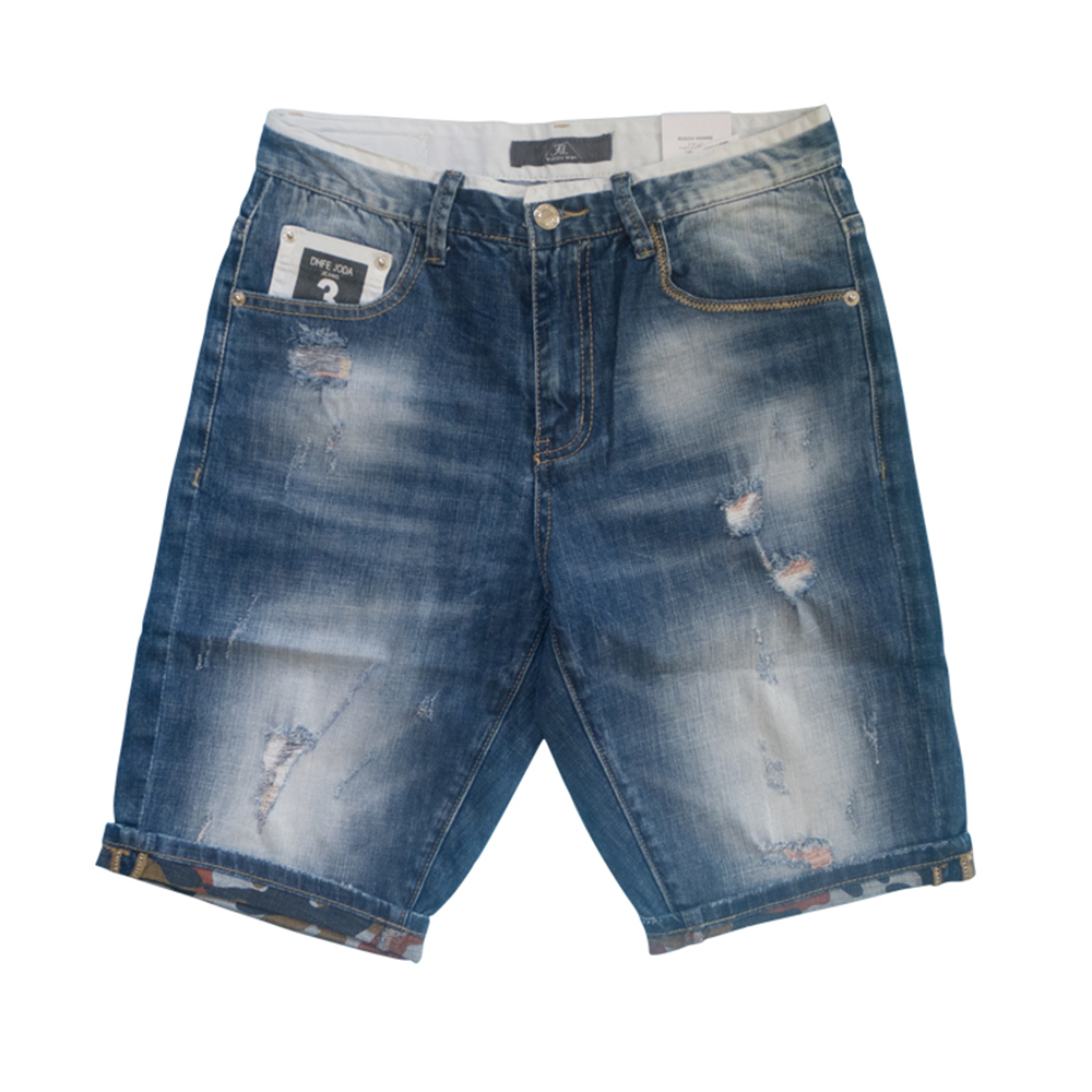 Men Shorts Bermudas Masculina De Marca Denim Shorts Bermuda Jeans Casual Shorts Cotton Short Pants Holes Jeans Zipper Men Pants цены онлайн