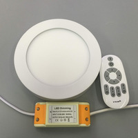 6W 2 4G Dimmable Round Led Panel Light Surface Mounted Downlight Lighting Led Ceiling Lights Down