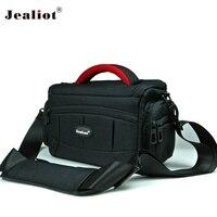 Jealiot bag for Camera bag padding SLR DSLR photo shoulder bag digital camera foto Video lens case for Canon 6d 70d 1300d Nikon