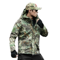 Mens Clothing Army Military Tactical Camouflage Jacket Waterproof Hunting Sport Softshell Hiking Camping Hooded Jacket