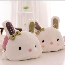 цены на Cute Rabbit Rex Rabbit Plush Toy Filled Soft Rabbit Doll Baby Child Toy Animal Cute Rabbit Toy Girl Toy Plush Gift Birthday Gift  в интернет-магазинах