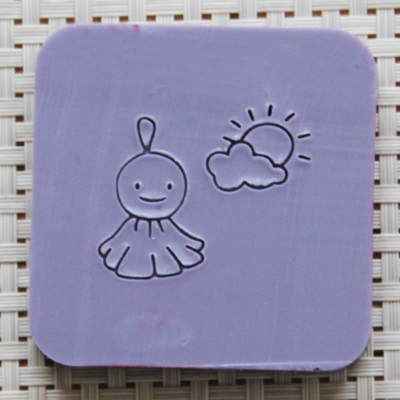 2018 free shipping natural handmade acrylic soap seal stamp mold chapter mini diy sunny patterns organic glass 0088