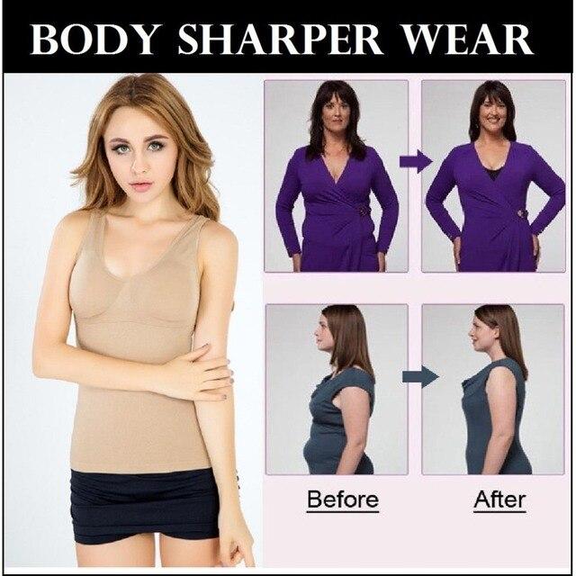 Lover Beauty Body Slimming Thick Tummy Shaper Women Belly Underwear Waist Shirt Vest Compression Cami Shapewear Trimmer Bra 3