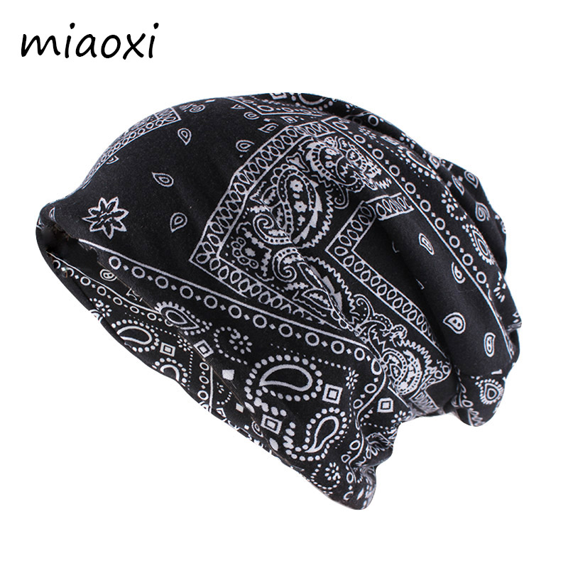 New Fashion Women Autumn Beanies Skullies Ladies Scarf Double Used Casual Cotton Hat Warm Vintage Hats Brand Bonnet Gorras