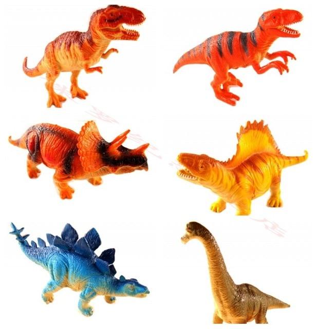 6 Unidsset Animales Dinosaurio Dibujos Animados Mundo Modelos