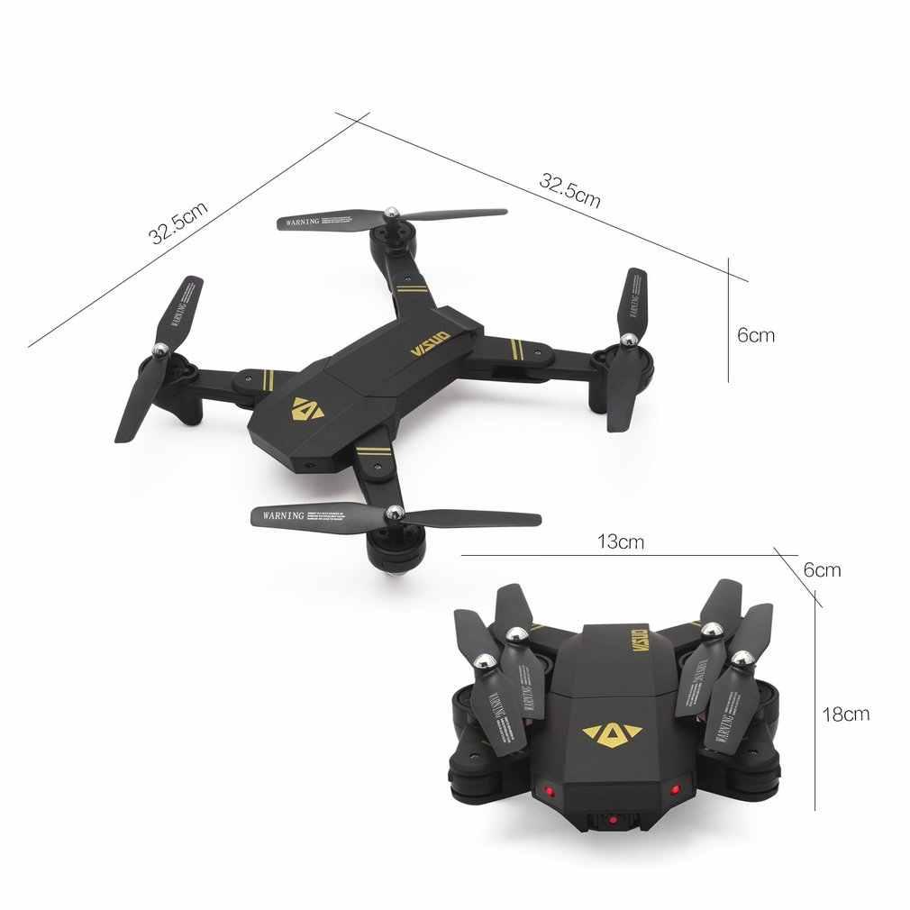 VISUO XS809HW 2,4G plegable FPV Selfie Drone RC Quadcopter juguetes con 720P gran angular Cámara Altitude Hold con 1/2/3 baterías