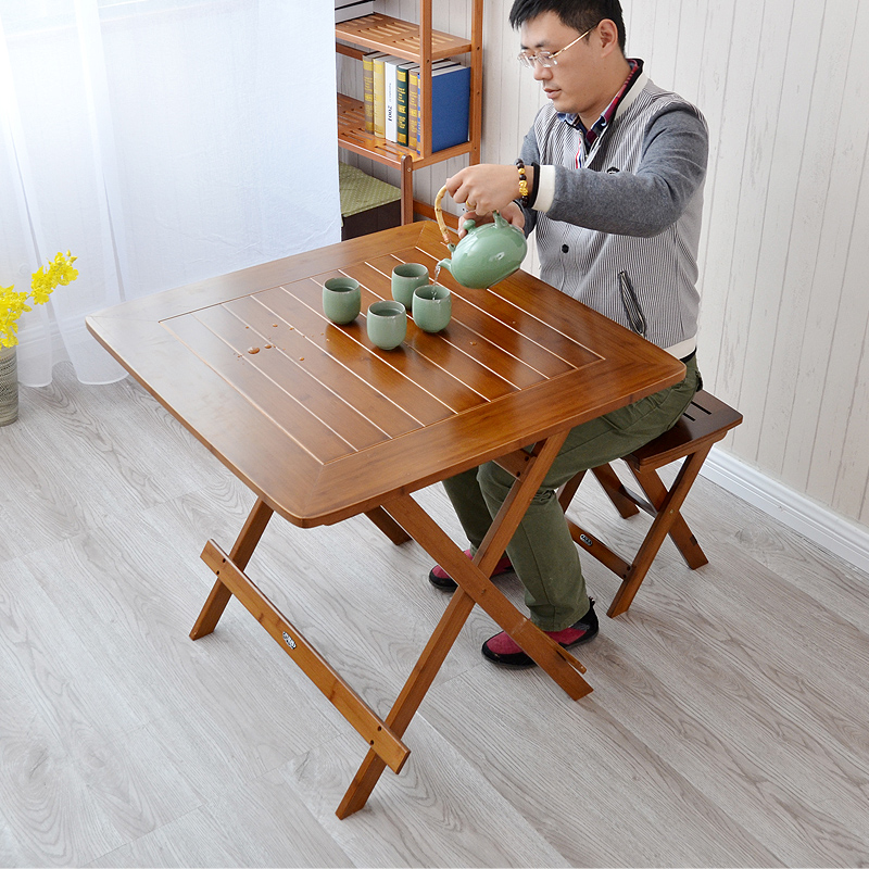 Leisure table folding table portable folding table to eat bamboo simplicitysideof small folding table furniture products