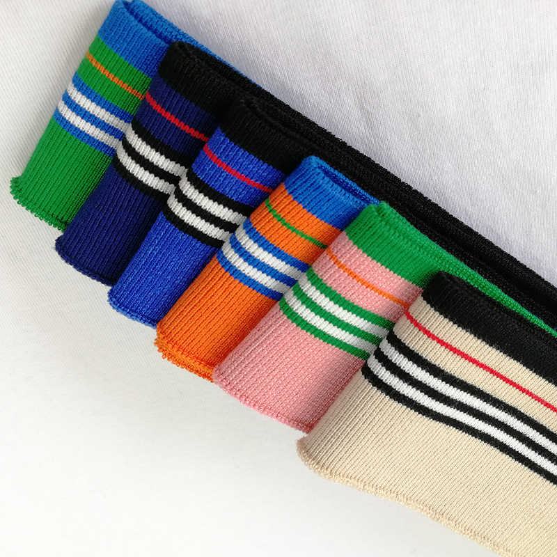 JIETAI renkli merserize pamuk örme şerit ribana kumaş DIY bez aksesuarları yaka manşetleri Hem alt yaka beraberlik dokuma