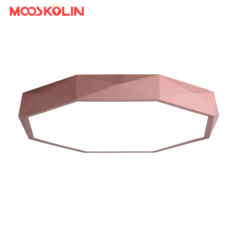 Surface mounted Round Modern led ceiling chandelier kids dining room studyroom kitchen Ultra-thin ceiling chandelier fixtures