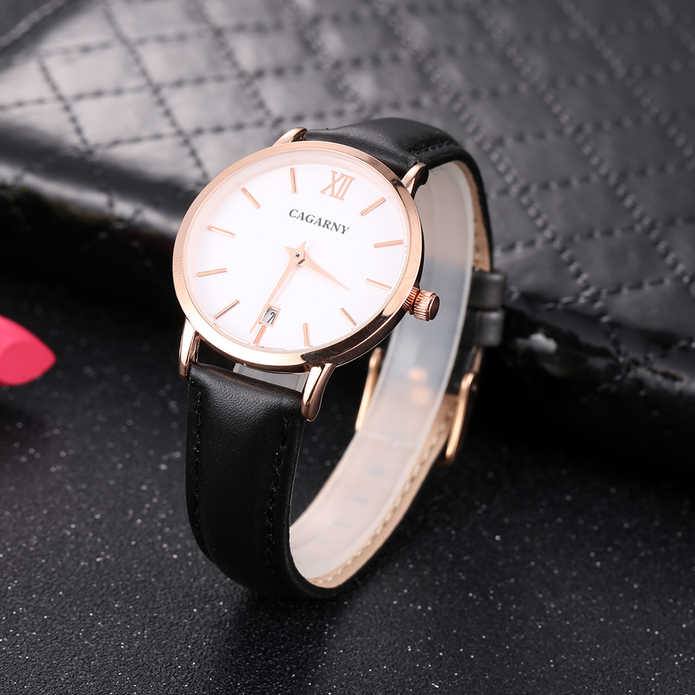 Cagarny Women Watches Luxury Brand Leather belt Ladies Quartz Women Watches 2018 Sport Relogio Feminino Rose Gold Montre Femme Wrist Watch high quality (9)