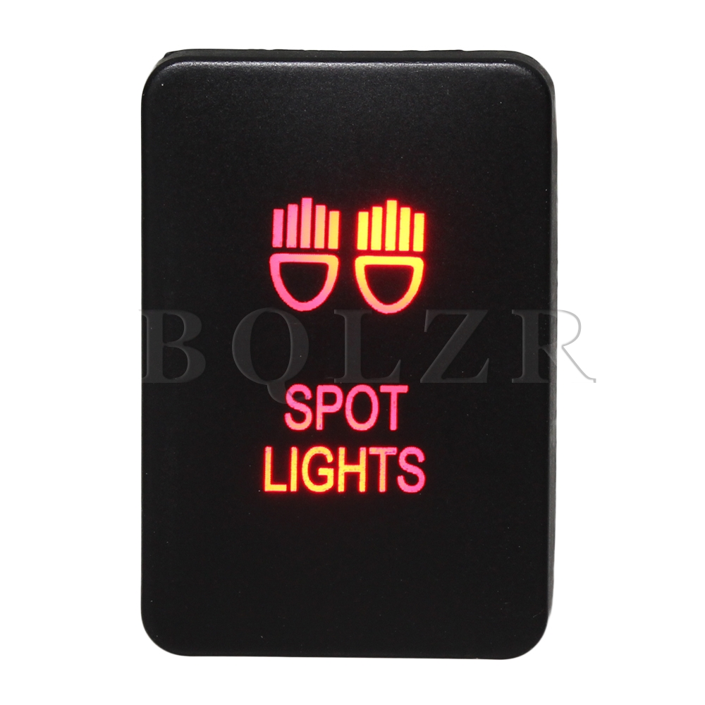 BQLZR Double Red Pattern Switch S NT Spot ON OFF Switch for New Style TOYOTA