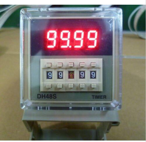 12V 24V 110V 220V AC Digital Timer Relay On Delay 8 Pins SPDT DH48S-1Z Reset/Pause Function