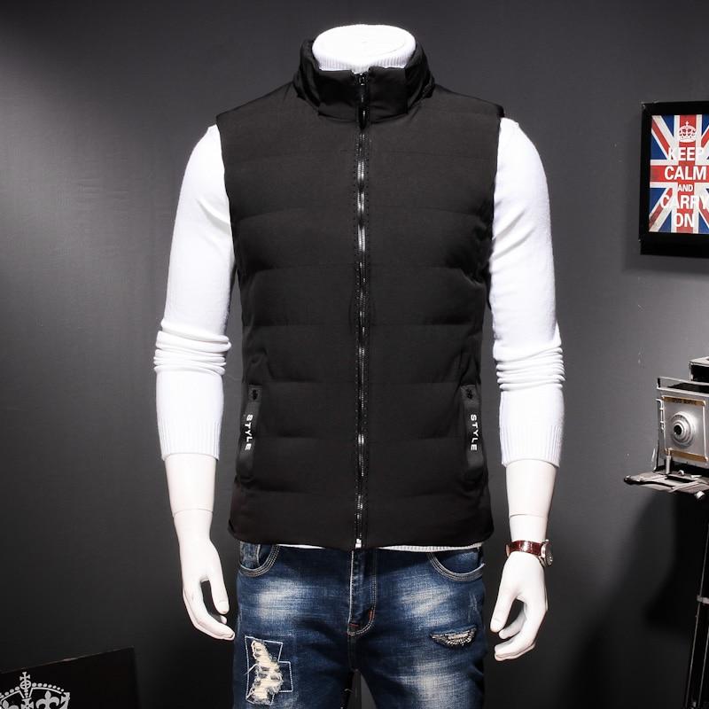 Plus Size 8XL 7XL Winter men's Warm sleeveless Vest men cotton hooded jacket male zipper Waistcoat for Autumn male gilet homme - 2