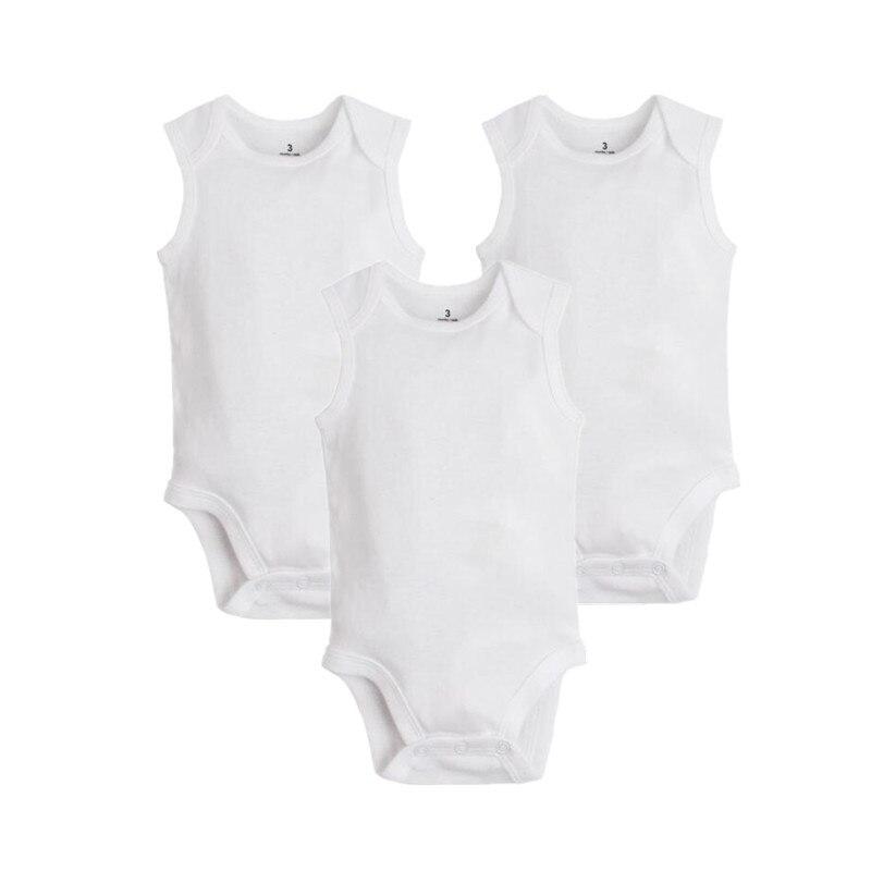 3 pcs lote 2018 verao puro algodao branco macacoes do bebe macio recem nascido roupas da