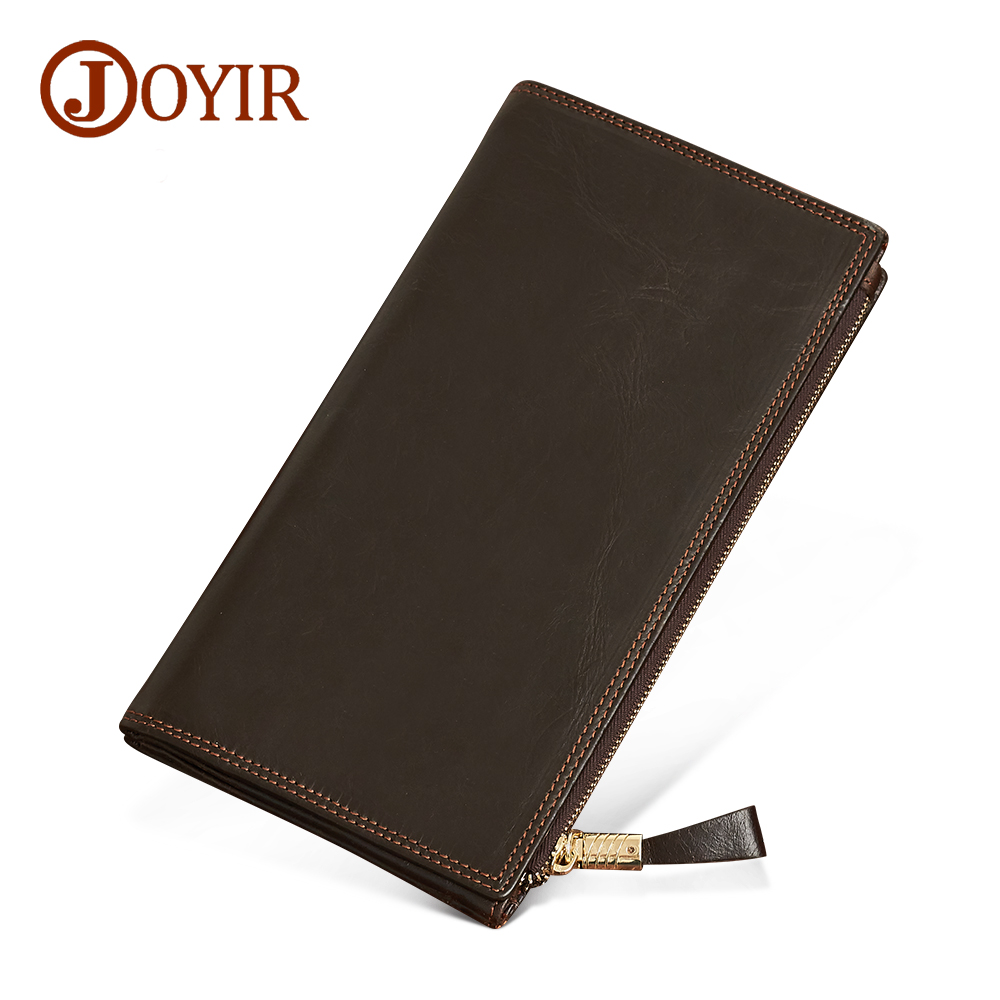 Joyir Mens Wallet Leather Genuine Long Men Wallets Vintage Wallet Male Cluth Purse Coin Purses Card Holder 2017 Carteira tcbsg 2017 new bikinis high waist swimsuit women plus size swimwear female vintage retro beach wear push up bikini set 3xl spa
