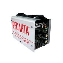 Аппарат сварочный инверторный РЕСАНТА САИ 190 (Мощность 5500 Вт, диаметр электрода 4 мм, диапазон тока 10-190 А, продолжительность включения 70% при 190 А)
