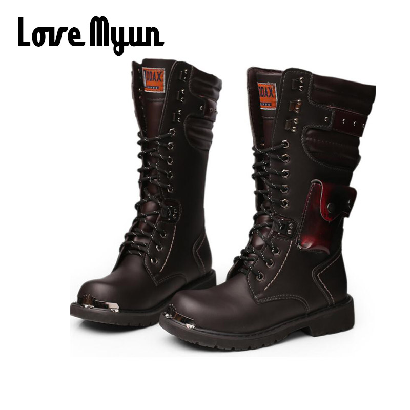 Motorcycle Boots Men Riding Boots Racing Motocross Boots Off-Road Motorbike Riding Moto Boots army military Shoes OO-81 motorcycle riding shoes men s waterproof spring anti falling knights boots cross country racing shoes road locomotive boots