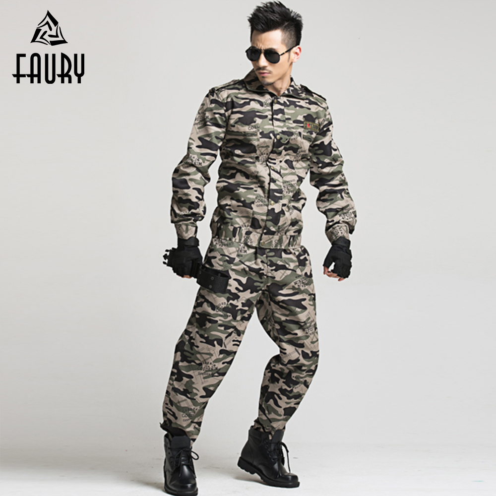 2018 Military Uniform Camouflage Suit Army Tactical Cargo Pants Combat Uniform Army Mens CS Clothing Sets Jacket+Pant Clothes ...