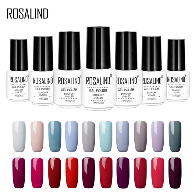 ROSALIND Gel 1S 7ML Gray Colors Series Gel Nail Polish For Nail Extension Primer Needed Top Base Design Manicure Gel Varnishes