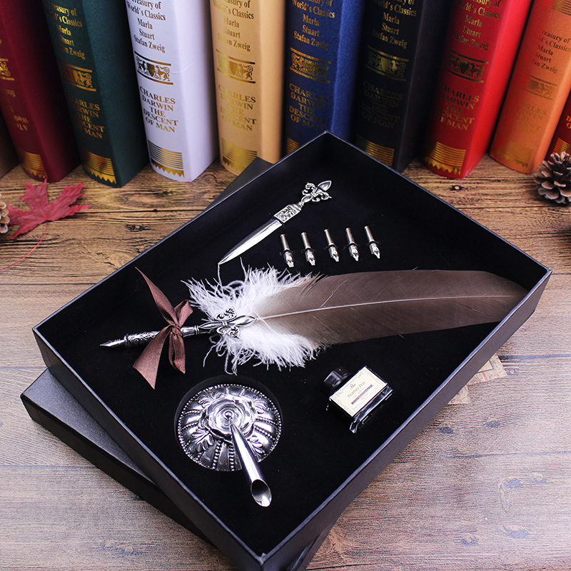 Graduation gift dip pen with letter opener birthday gift quill pen Calligraphy quill Dip Pen Stationery