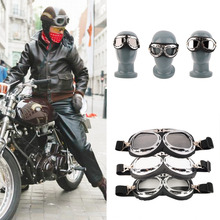 Cool Men Anti-UV Safety Motorcycle Scooter Pilot Goggles Helmet Glasses Motocross free shipping Well Sell