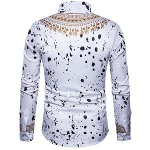 Image 5 - 新メンズシャツ 3D 国家のスタイル印刷花柄シャツ男性ファッション標準版長袖シャツ 3XL