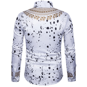 Image 5 - เสื้อใหม่ผู้ชายลำลองเสื้อ 3D การพิมพ์สไตล์แห่งชาติรูปแบบดอกไม้เสื้อผู้ชายแฟชั่น Edition เสื้อแขนยาว 3XL