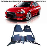 For Mitsubishi Lancer 2008 2009 10 11 12 13 14 2015 Waterproof Interior Front & Rear Floor Mats Carpets Liners Car Styling