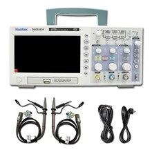 Hantek Osciloscopio Digital DSO5202P, ancho de banda de 200MHz, 2 canales, PC, USB, LCD, portátil, herramientas eléctricas
