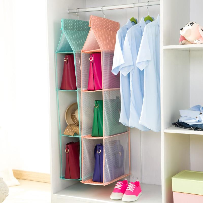 Bag Hanging Storage Closet Organizer Tote Bag Storage Organizer Handbag  Holder()