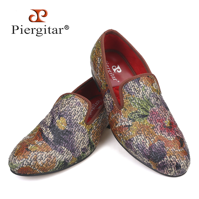 New style Painting graffiti style Mix colors men loafers British style smoking slipper fashion men s