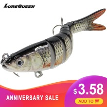 Купить с кэшбэком Truscend Sinking Wobblers 8 Segments Fishing Lures Multi Jointed swimbait 27g Hard Bait Fishing Tackle For Freshwater Isca