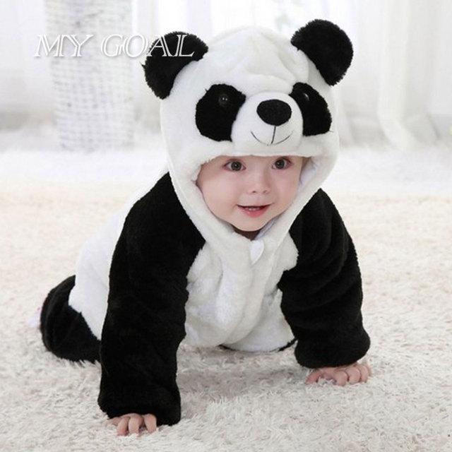 21 8 Panda Bebe Mameluco Recien Nacido Traje Animal Del Mono Lindo Bebe Ninos Ninas Mameluco Del Bebe Ropa De La Ropa De Franela En Monos De Mama Y