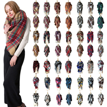 Designer 2018 autumn winter women's scarf plaid warm cashmere scarves luxury brand square scarf bandana pashmina lady wrap stock pdr phisique du role водолазки