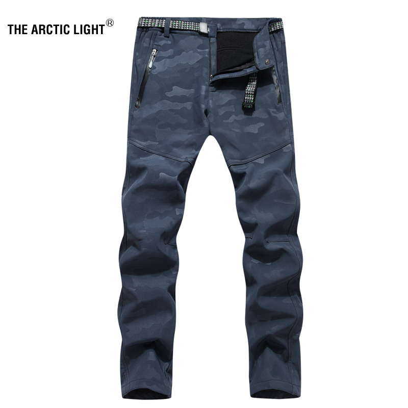 THE ARCTIC LIGHT Hiking Trekking Ski Pants Softshell Winter Windproof Warmth Radiation Protection Men Waterproof Trousers