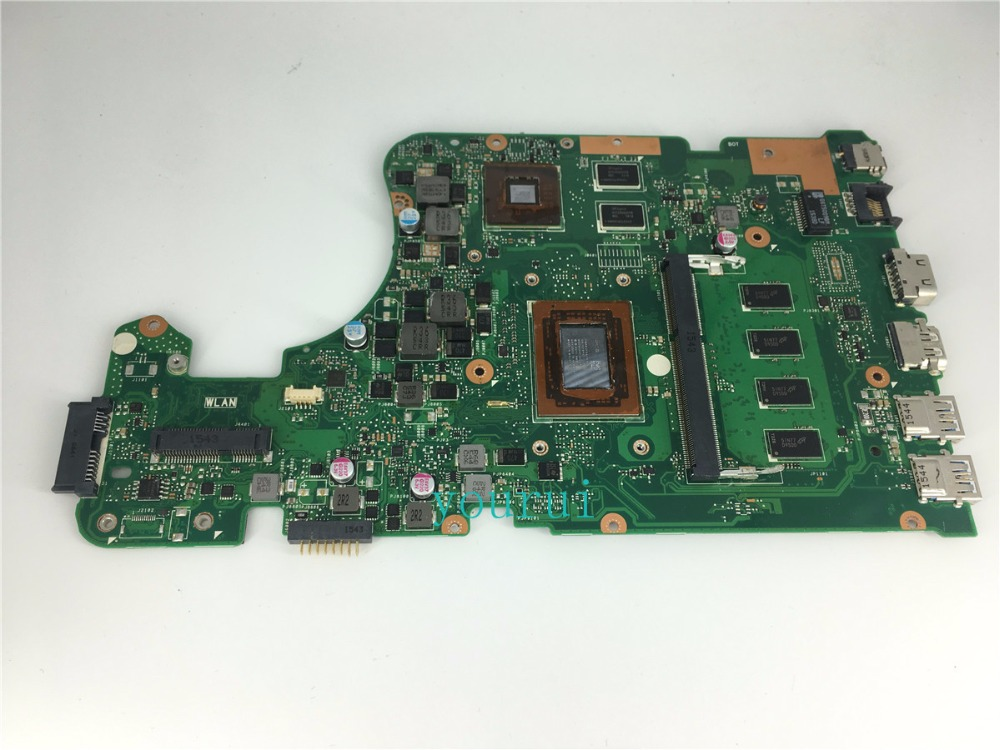 yourui A4-7210CPU 4GB RAM mainboard REV 2.0 For <font><b>ASUS</b></font> X555D A555D X555DG X555YI laptop <font><b>motherboard</b></font> 90NB09C0-R00020 100% Tested image