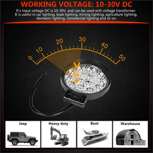 Image 2 - 4 Inch 42 48W Offroad LED Work Light Spotlight Flood Spot Beam Drive Lamp for JEEP UAZ 4x4 Car 4WD Boat SUV ATV Truck Motorcycle
