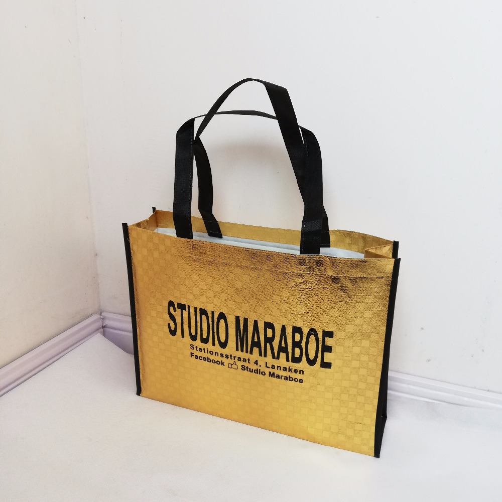 b8c9493153 Detail Feedback Questions about Wholesale 500pcs lot Custom Laminated Reusable  Non Woven Shopping Tote Bags Printed With Your Logo for Trade Show on ...