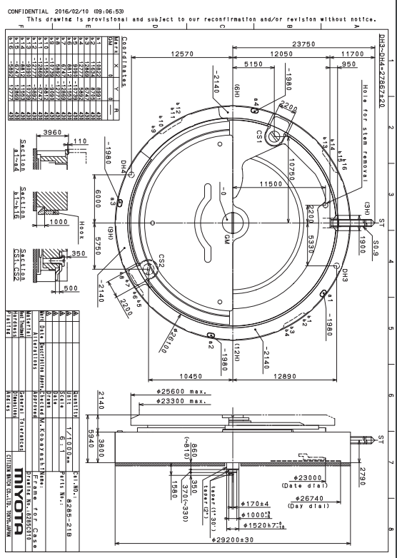 Watch Movement Diagram Trailer Pigtail Wiring Automatic Mechanical Repair Accessory For Miyota 8205