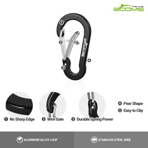 Image 4 - Booms Fishing CC1 6Pcs Aluminum Alloy Carabiner Keychain Outdoor Camping Climbing Snap Clip Lock Buckle Hook Fishing Tool 6Color