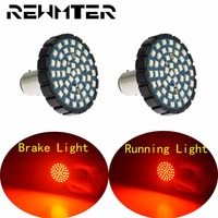 Brake Running Light Motorcycle Red LED 2pcs Bullet Style 1157 LED Inserts For Harley Softail 11 17 Sportster Touring 2014 2017