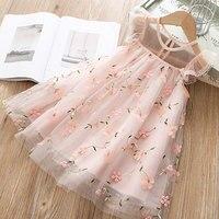 Милое Платье для девочек коллекция 2019 года, новая летняя одежда для девочек платье принцессы с цветочным рисунком Детская летняя одежда пла...