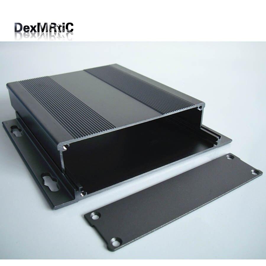 Aluminiowa obudowa power Shell elektryczne pudełko projektowe do montażu na ścianie oddzielny typ DIY 132*29*120mm nowość w Złącza od Lampy i oświetlenie na title=