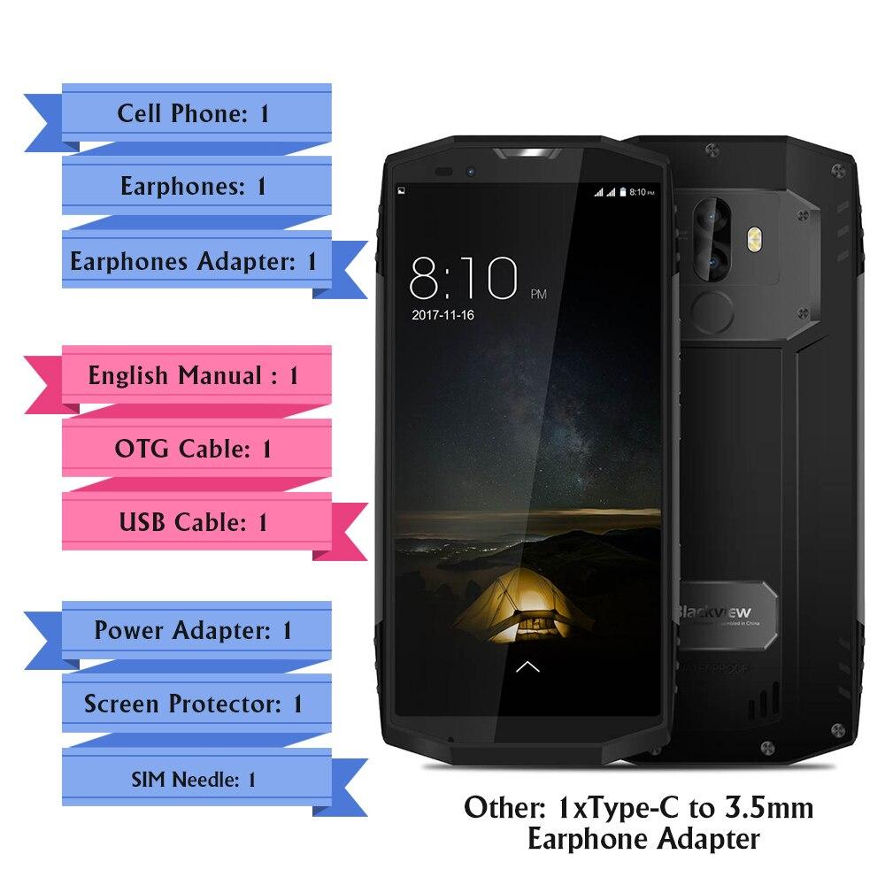 Blackview BV9000 5.7 ''18:9 IP68 Android 7.1 12V2A 4 GB + 64 GB Double arrière Cam MT6757CD Octa Core 13MP NFC Étanche 4G Mobile téléphone