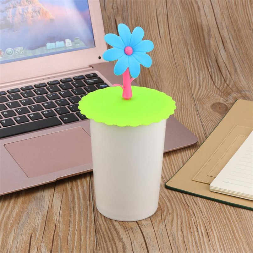 2018 cute Sunflower Lace  Aust Reusa Ale Silicone Cover Cup  AIY Free Splicing Thermal Insulation Cup Seal  A1