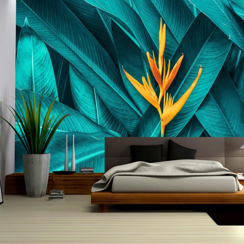 3d stereoscopic wallcoverings floral wall paper for children's room living room wallpaper palm leaves Tropical Rain Forest bacaz white 3d stereoscopic carving damascus wallpaper roll for living room background wall paper rolls 3d wallcoverings