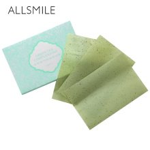 ALLSMILE  Facial Cleanser Oil Absorbing Tissue Paper  Green tea Absorbing Paper   Makeup Cleansing Face Absorb Blotting Tools