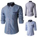 High Quality Gentle Business Casual Men Dress Shirts 2015 New Brand Man Slim fit Long sleeve Fashion Camisas de marca Clothing